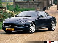 1998 Maserati 3200 GT = 280 kph, 370 bhp, 5.1 sec.