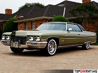 1971 Cadillac Coupe de Ville = 190 kph, 345 bhp, 10.5 sec.