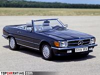 1980 Mercedes-Benz 500 SL (R107) = 222 kph, 240 bhp, 7.1 sec.