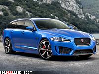 2014 Jaguar XFR-S Sportbrake = 300 kph, 550 bhp, 4.8 sec.