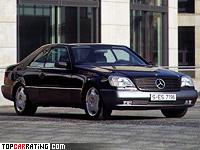 1996 Mercedes-Benz CL 600 (C140) = 250 kph, 394 bhp, 5.8 sec.