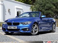 2013 BMW 435i Cabrio M Sport Package (F33) = 250 kph, 306 bhp, 5.6 sec.