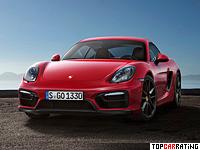 2014 Porsche Cayman GTS (981C) = 281 kph, 340 bhp, 4.7 sec.