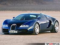 1999 Bugatti EB 18/4 Veyron Concept = 340 kph, 555 bhp, 4.2 sec.