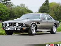 1974 Aston Martin Lagonda V8 Saloon = 239 kph, 310 bhp, 6.8 sec.