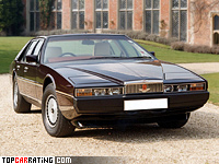 1976 Aston Martin Lagonda = 238 kph, 280 bhp, 7.9 sec.