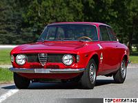 1965 Alfa Romeo Giulia Sprint 1600 GTA = 188 kph, 131 bhp, 9 sec.
