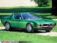 1970 Alfa Romeo Montreal = 224 kph, 200 bhp, 7.1 sec.