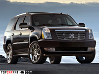2006 Cadillac Escalade = 173 kph, 403 bhp, 7.5 sec.