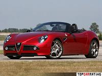 2008 Alfa Romeo 8C Spider = 290 kph, 450 bhp, 4.3 sec.