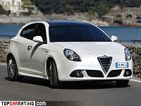 2010 Alfa Romeo Giulietta Quadrifoglio Verde 1.8 TBi = 242 kph, 232 bhp, 6.8 sec.