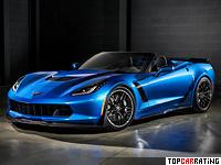2015 Chevrolet Corvette Z06 Convertible = 325 kph, 630 bhp, 3.5 sec.