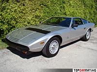 1973 Maserati Khamsin = 262 kph, 315 bhp, 5.8 sec.