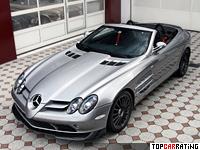 2009 Mercedes-Benz SLR McLaren Roadster 722S = 332 kph, 650 bhp, 3.8 sec.