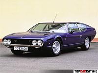 1972 Lamborghini Espada 400 GTE = 261 kph, 350 bhp, 6.1 sec.