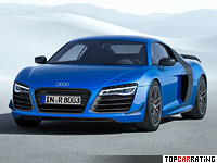 2014 Audi R8 LMX = 320 kph, 570 bhp, 3.4 sec.