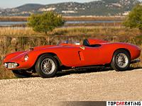 1955 Ferrari 121 LM Scaglietti Spyder = 274 kph, 330 bhp, 4.8 sec.