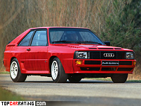1984 Audi Sport quattro = 248 kph, 302 bhp, 5.1 sec.