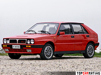 1989 Lancia Delta HF Integrale 16v (831) = 216 kph, 193 bhp, 6.7 sec.