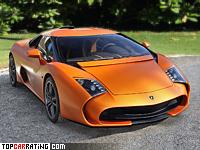 2014 Lamborghini 5-95 Zagato Concept = 325 kph, 570 bhp, 3.4 sec.