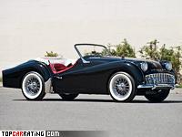 1956 Triumph TR3 = 169 kph, 100 bhp, 11.6 sec.