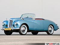 1953 Sunbeam Alpine Sport Roadster (MkI) = 150 kph, 78 bhp, 20.3 sec.