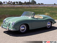 1952 Porsche 356 America Roadster (540) = 177 kph, 70 bhp, 13 sec.