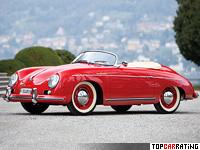 1955 Porsche 356 Speedster 1600S = 169 kph, 75 bhp, 11.3 sec.