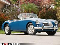 1958 MG A Twin-Cam = 182 kph, 108 bhp, 10.6 sec.