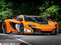 2015 McLaren 650S GT3 = 340 kph, 500 bhp, 2.9 sec.