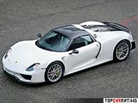 2014 Porsche 918 Spyder Weissach Package = 345 kph, 887 bhp, 2.6 sec.