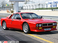 1982 Lancia Rally 037 Stradale = 226 kph, 205 bhp, 6.3 sec.