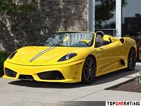 2009 Ferrari F430 Scuderia Spider 16M = 315 kph, 510 bhp, 3.7 sec.