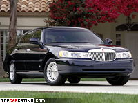 1998 Lincoln Town Car = 202 kph, 220 bhp, 9.6 sec.