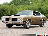 1970 Oldsmobile 442 W-30 Holiday Coupe = 200 kph, 370 bhp, 6 sec.