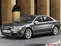 2005 Audi S8 = 250 kph, 444 bhp, 5.1 sec.
