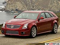 2010 Cadillac CTS-V Sport Wagon = 280 kph, 556 bhp, 4.6 sec.