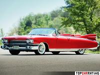 1959 Cadillac Eldorado Biarritz = 222 kph, 345 bhp, 11.2 sec.