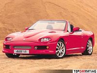 1997 AC Ace V8 = 249 kph, 320 bhp, 5.6 sec.