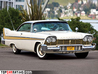 1957 Plymouth Fury Sport Coupe = 195 kph, 308 bhp, 8 sec.