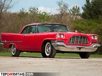 1957 Chrysler 300C Hardtop Coupe = 241 kph, 390 bhp, 8 sec.