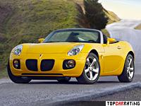 2007 Pontiac Solstice GXP = 229 kph, 260 bhp, 5.4 sec.