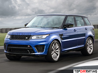 2014 Land Rover Range Rover Sport SVR = 261 kph, 550 bhp, 4.6 sec.