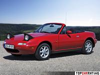 1989 Mazda MX-5 Miata = 190 kph, 115 bhp, 8.7 sec.
