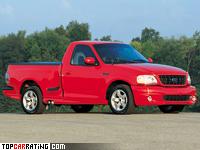 1999 Ford SVT F-150 Lightning = 225 kph, 360 bhp, 6.2 sec.