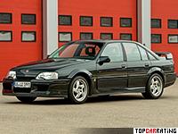 1990 Opel Omega Lotus (Vauxhall Carlton Lotus) = 269 kph, 377 bhp, 5 sec.