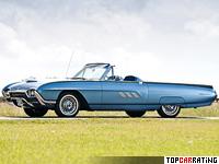 1963 Ford Thunderbird Sport Roadster = 213 kph, 340 bhp, 8.4 sec.