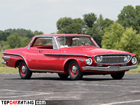 1962 Dodge Dart 440 Ramcharger 413 = 214 kph, 420 bhp, 5.9 sec.