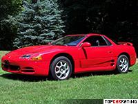 1994 Mitsubishi 3000 GT VR-4 = 269 kph, 324 bhp, 5.8 sec.