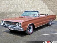 1967 Dodge Coronet R/T 426 Convertible = 200 kph, 425 bhp, 7.2 sec.